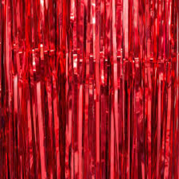 Foil Fringe Curtain - Red image