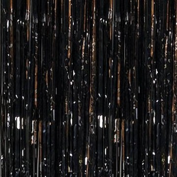 Foil Fringe Curtain - Black image