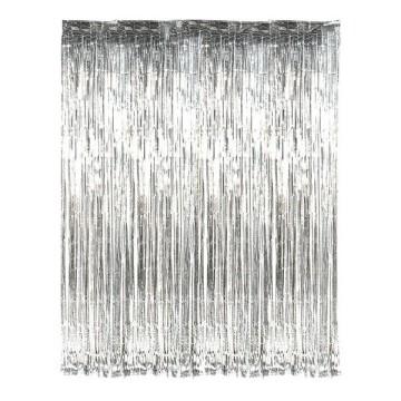 Foil Fringe Curtain - Silver image