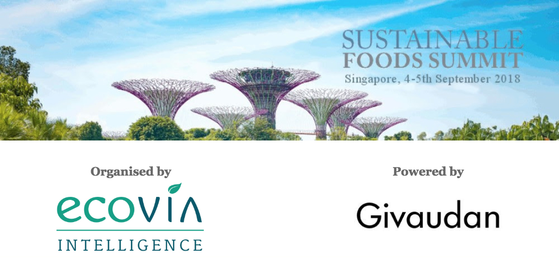SAVE THE DATE! For Sustainable Foods Summit 2018 image