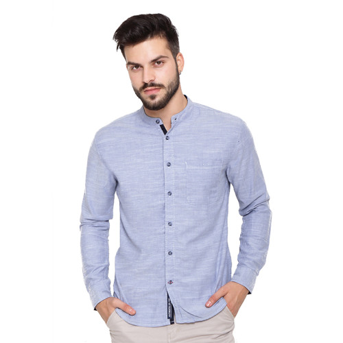 Osella Man Shirt Long Sleeve Blue Rami Koko Navy