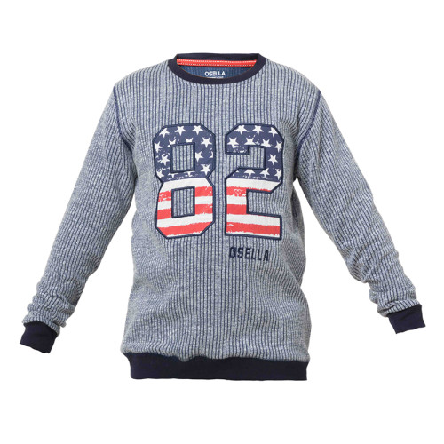 SWEATER STRIPE NAVY BABY TERRY OSELLA KIDS 82 Navy
