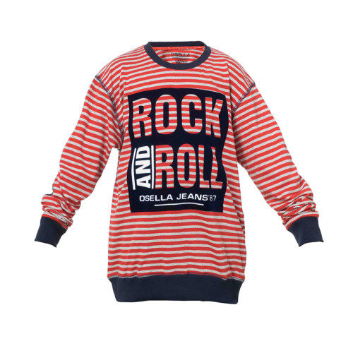 SWEATER STRIPE RED OSELLA KIDS ROCK AND ROLL Red