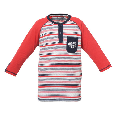 T-SHIRT STRIPE RED OSELLA KIDS PRINT HD DI KANTONG Red
