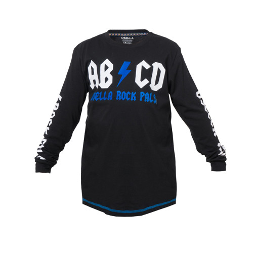 T-SHIRT LONG PRINT BLACK OSELLA KIDS ABCD Black