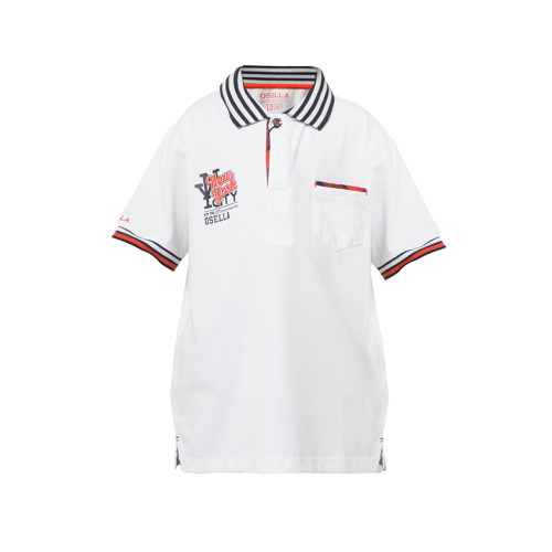 POLO SHIRT NEW YORK CITY OSELLA White