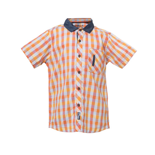 SHIRT SHORT KOTAK KTG MODEL SAMPING  L/S Orange