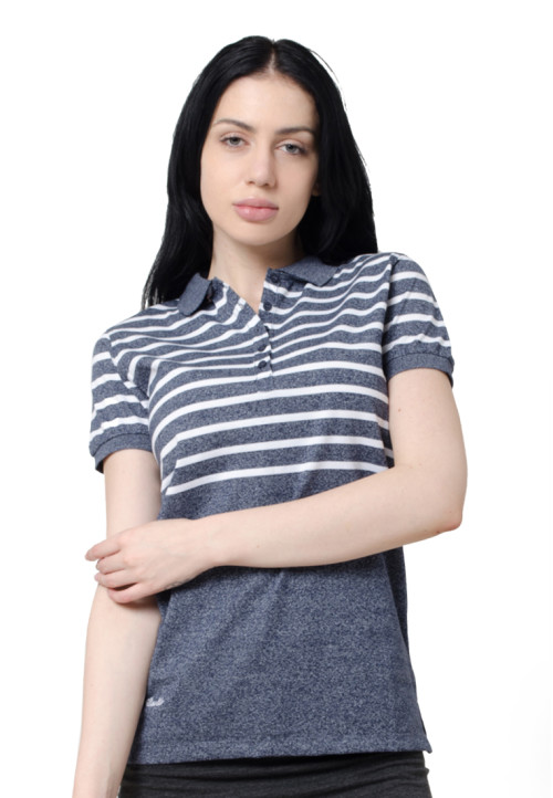 Osella Woman Osella Polo Shirt Stripe Ladies Navy