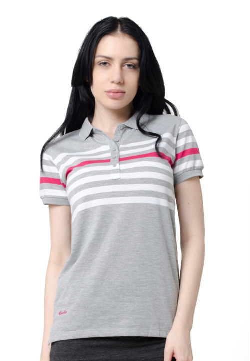 Osella Woman Osella Polo Shirt Stripe Ladies Misty