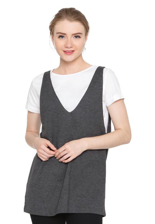 Osella Woman Tshirt Short Sleeve Sleeve Ctn Combo Terry  Black