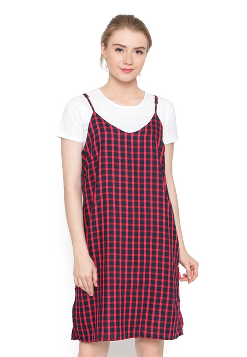 Osella Woman Dress Rc01 Red Check Mst Red