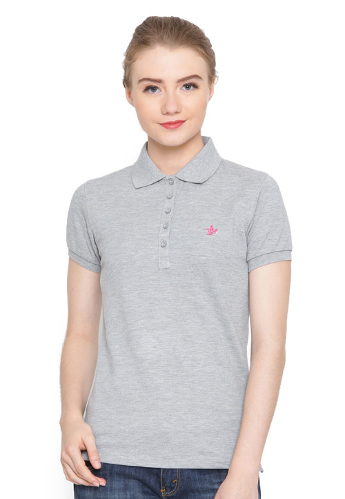 Osella Woman Polo Shirt Solid Misty