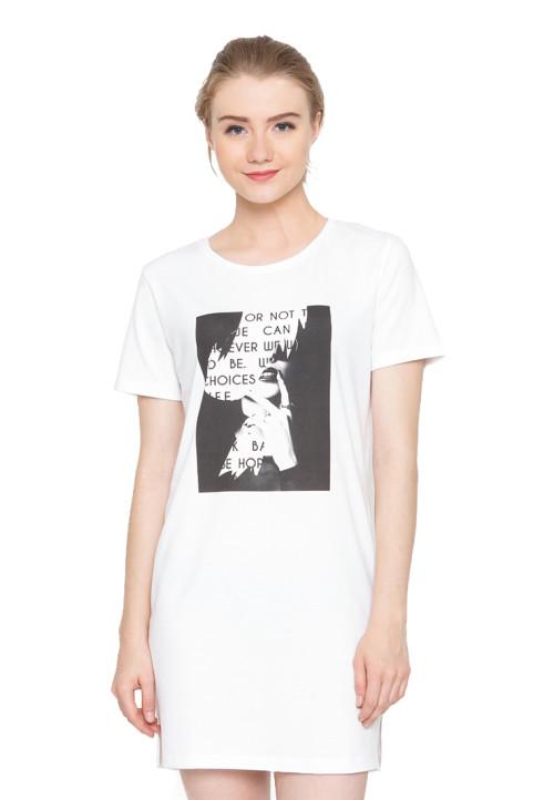 Osella Woman Tshirt Short Sleeve Sleeve Tunic Print Or Not White