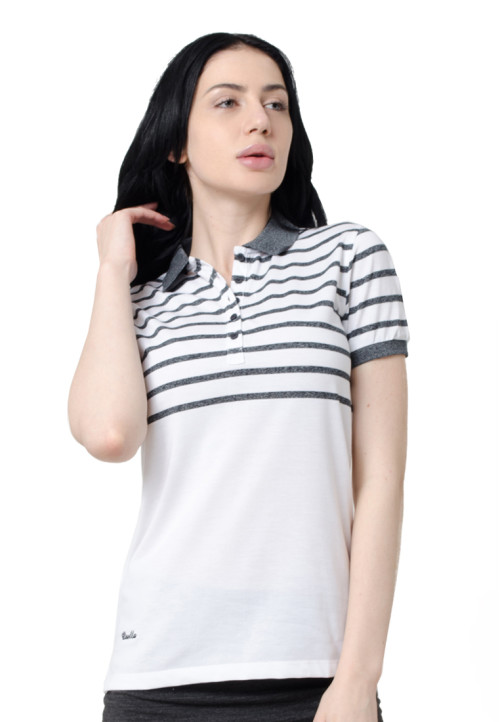 Osella Woman Osella Polo Shirt Stripe Ladies White