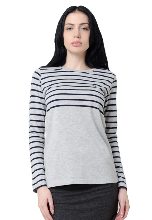 Osella Woman Osella T-Shirt Stripe Long Sleeve Navy
