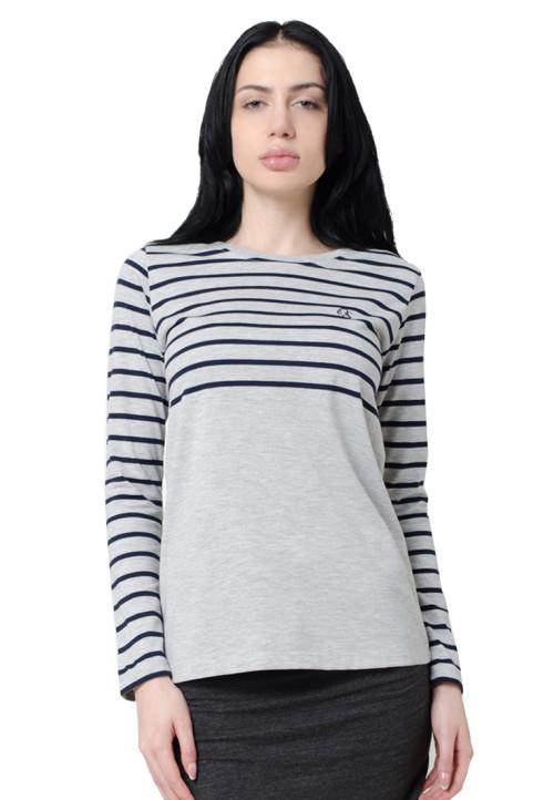 Osella Woman Osella T-Shirt Stripe Long Sleeve Navy