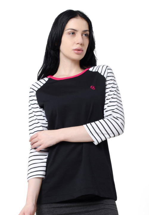 Osella Woman Sweater Stripe Pink