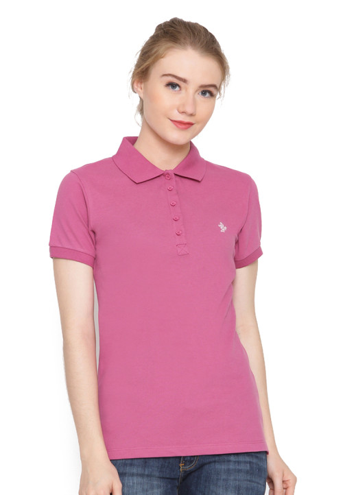 Osella Woman Polo Shirt Solid Fiesta
