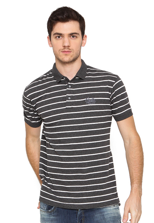 Osella Man Polo Shirt Man Stripe M81 White Misty