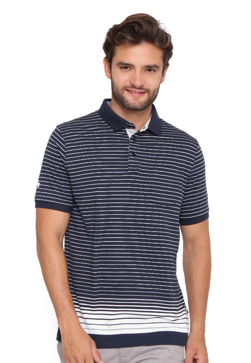 Arnett POLO SHIRT STRIPE NAVY Navy