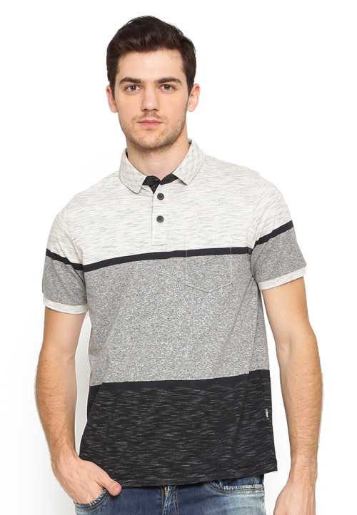 POLO SHIRT ENGINE SLUB GREY + SIRO BROWN +SLUB BLACK