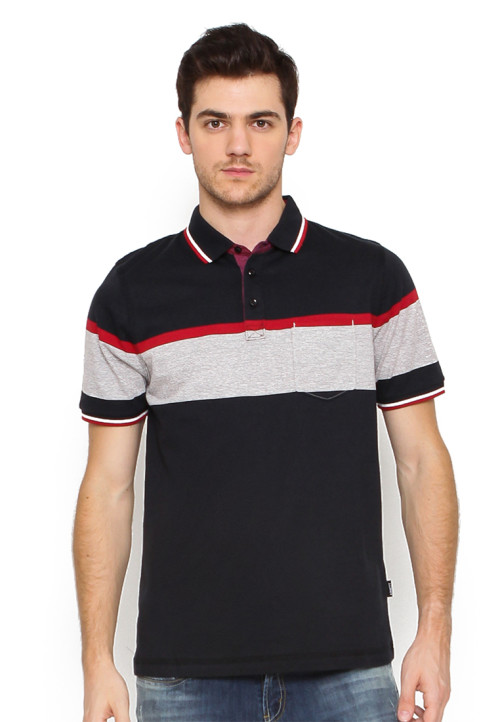 POLO SHIRT ENGINE BLACK + RED + SLUB BLACK