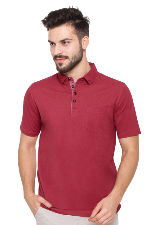 Arnett POLO SHIRT FASHION KOMB KANTONG TEMPEL Red