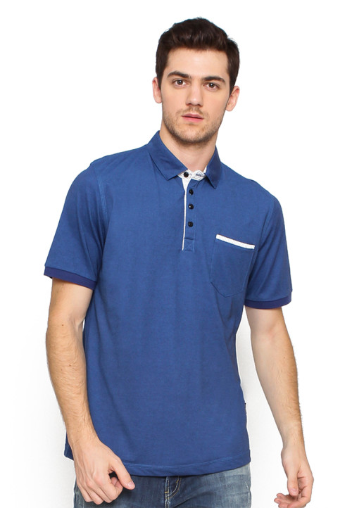 Arnett POLO SHIRT FASHION BLUE KANTONG TEMPEL Blue