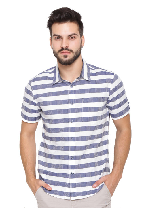 Arnett Shirt check blue navy Navy