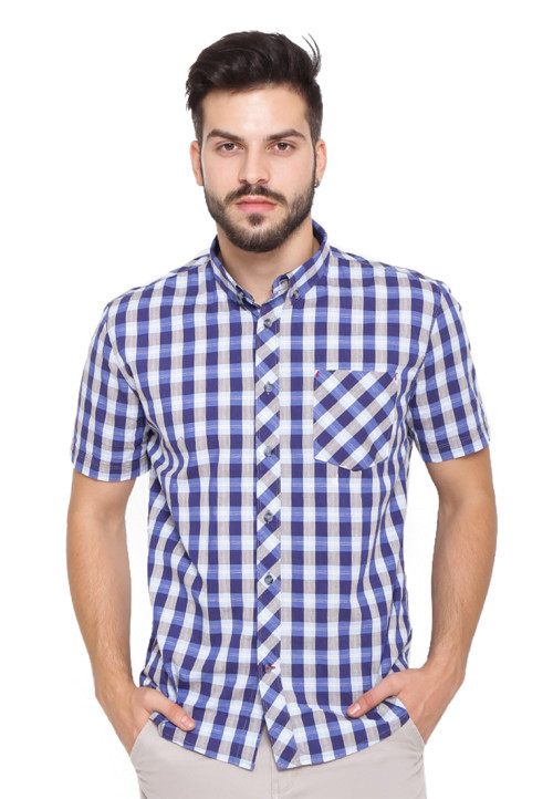 Arnett SHIRT SHORT AR 09 / 162626 DOBBY Blue