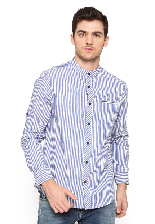 Arnett SHIRT LONG SALUR BLUE ROYAL Blue