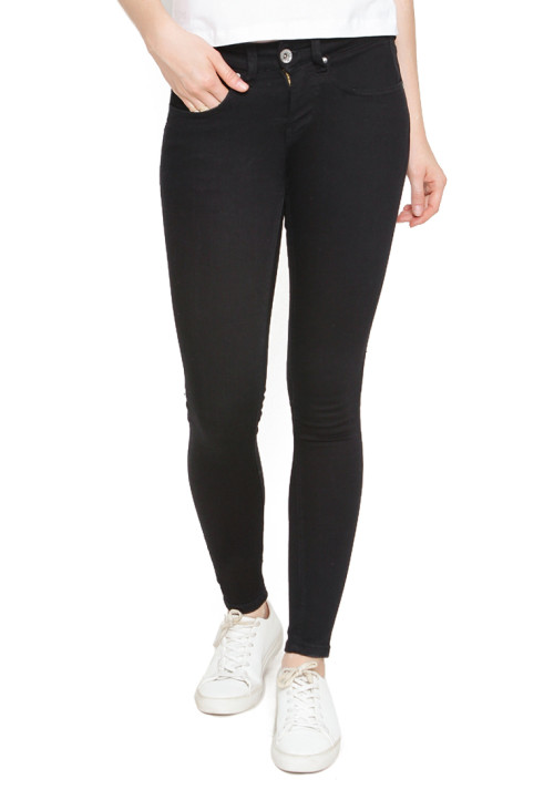Osella Woman Pants Long  Denim A1 Midnight Black