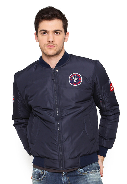 Osella Man Jacket Bomber Patch Label Nasa Navy