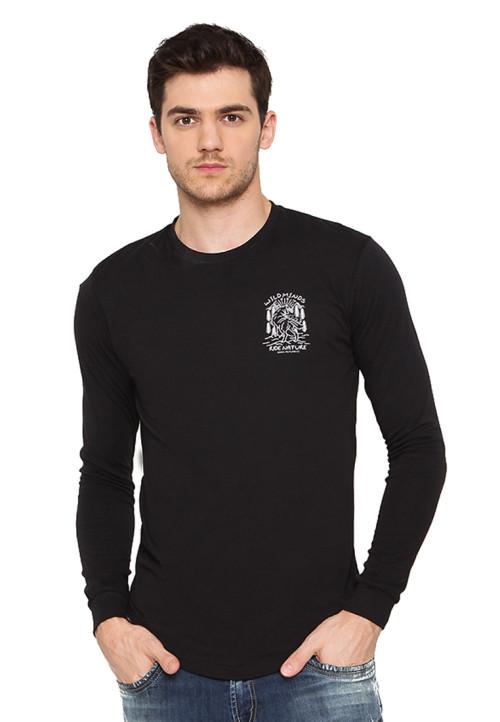 Osella Man Tshirt Street Look Hitam Srigala Black