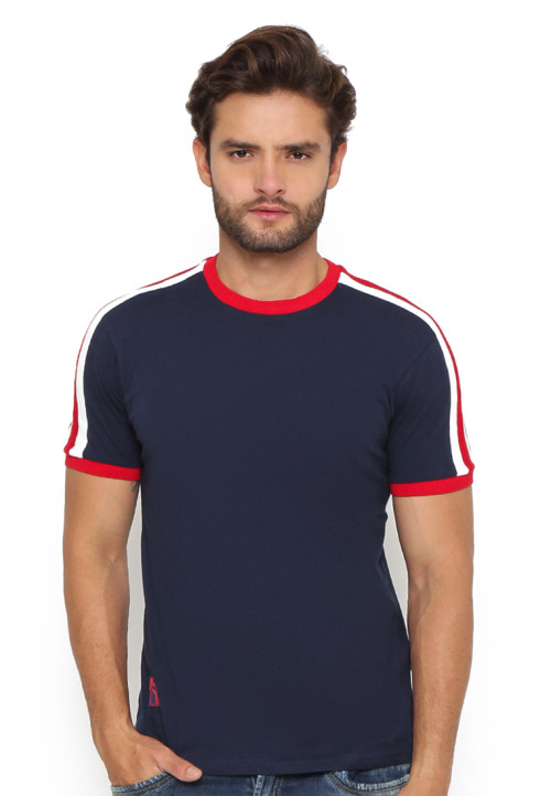 Osella Man Tshirt Short S.Kombo Shoulder Navy
