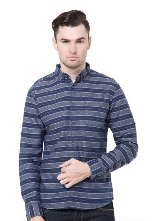 Osella Man Shirt Long Sleeve Theodore Navy