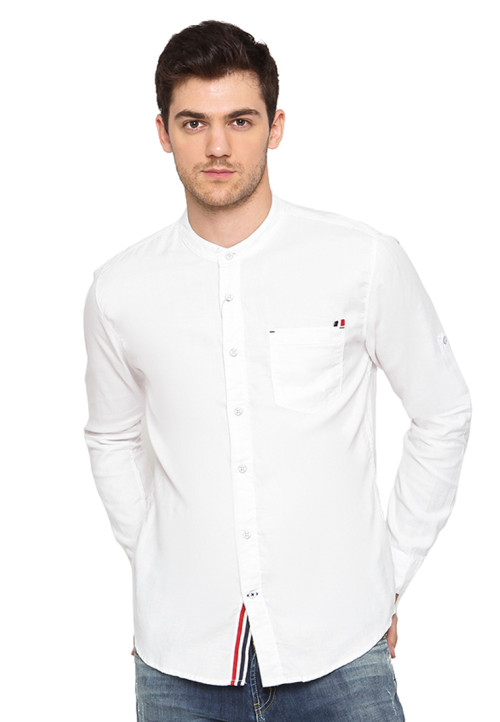 Osella Man Shirt Long Sleeve Meora Oxford White