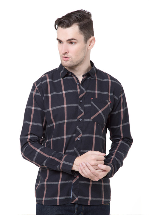 Osella Man Shirt Long Sleeve Theodore O.Black