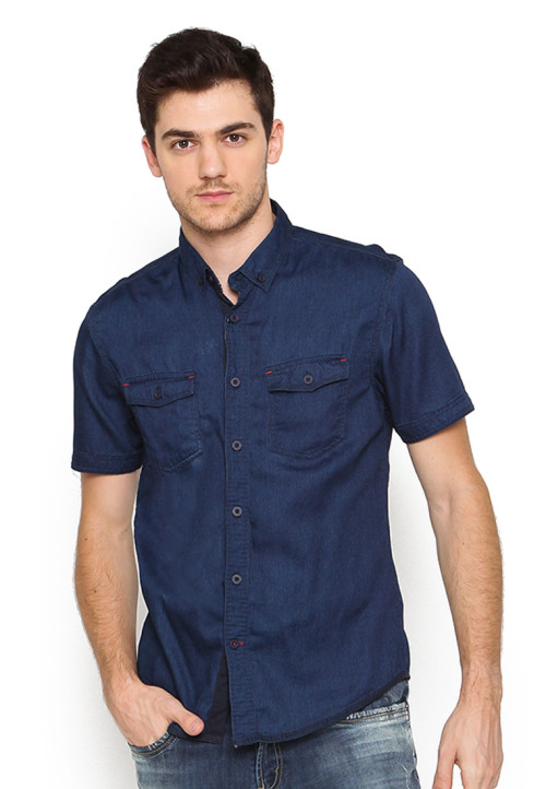 Osella Man Shirt Short Sleev Dapper Club Ss Navy