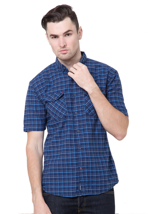 Osella Man Shirt Short Sleev Torino Misty Navy