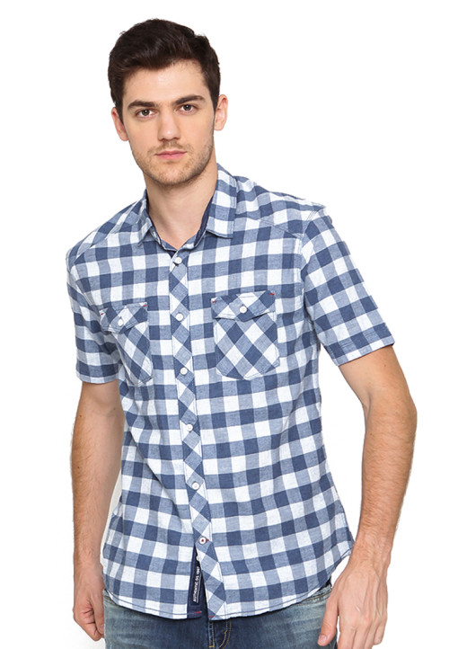 Osella Man Shirt Short Sleev Torino Misty Blue