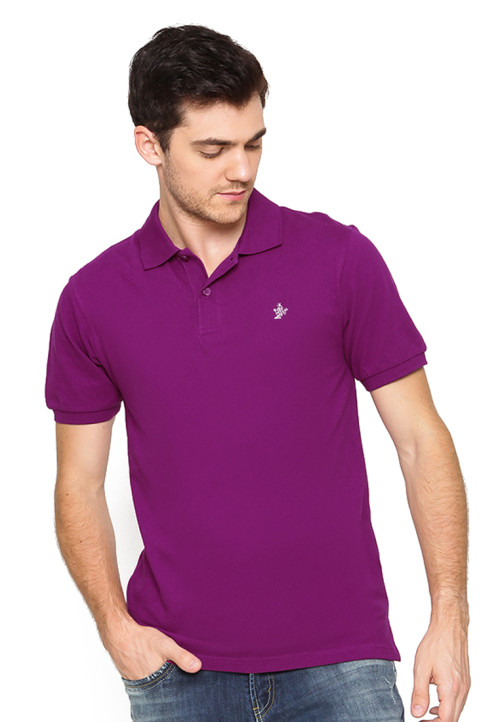 Osella Man Polo Shirt Solid Purple