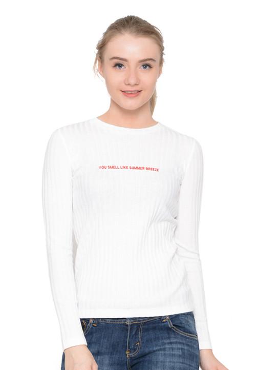 Osella Woman Tshirt  Long Sleeve Sleeve Drop Knit Grey Misty