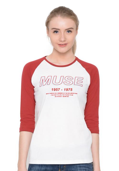 Osella Woman T-Shirt Raglan Muse Red
