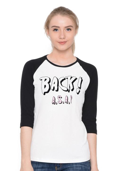 Osella Woman T-Shirt Raglan Back Asap Black