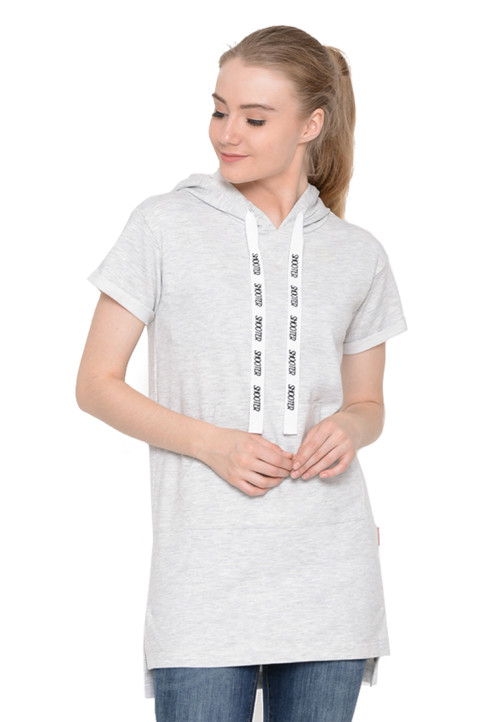 Osella Woman Tshirt Short Sleeve Sleeve Hoody Print Shooter Blue
