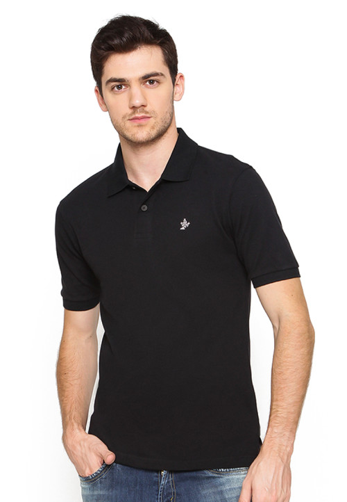 Osella Man Polo Shirt Solid Black