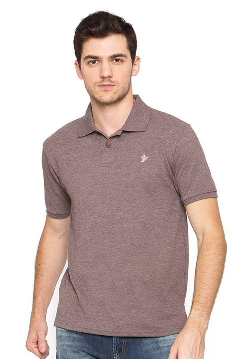 Osella Man Polo Shirt Solid Smoke Brown
