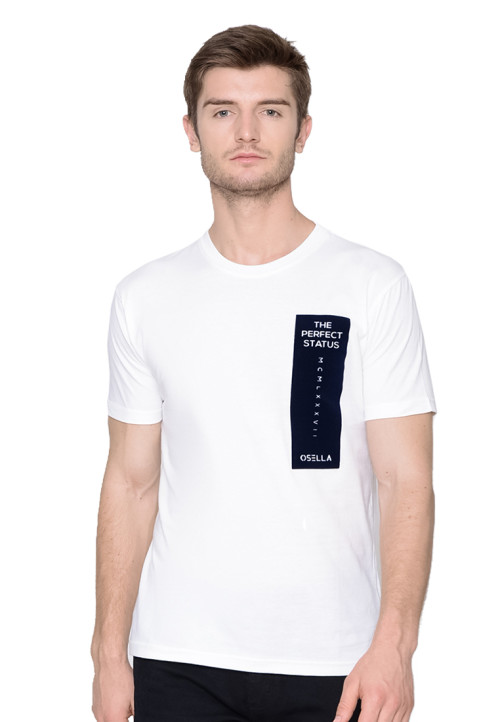 Osella Man T-SHIRT PERFECT STATUS FLOCKING WHITE White