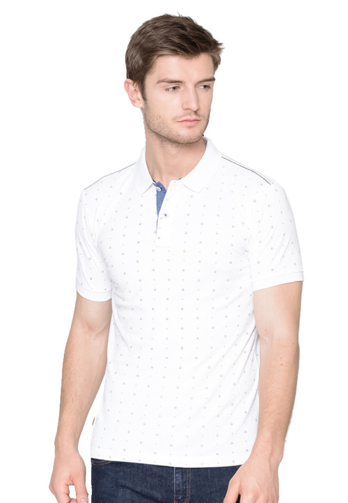 Osella Man polo shirt fashion man white print full body White